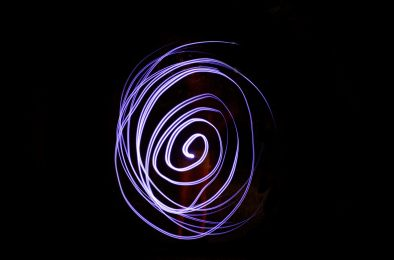 Spiral - Lanie's first attempt at light painting