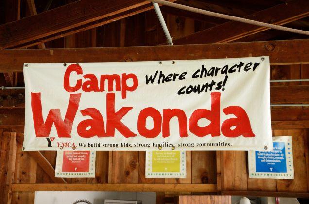 Picture of a Camp Wakonda sign - Missouri