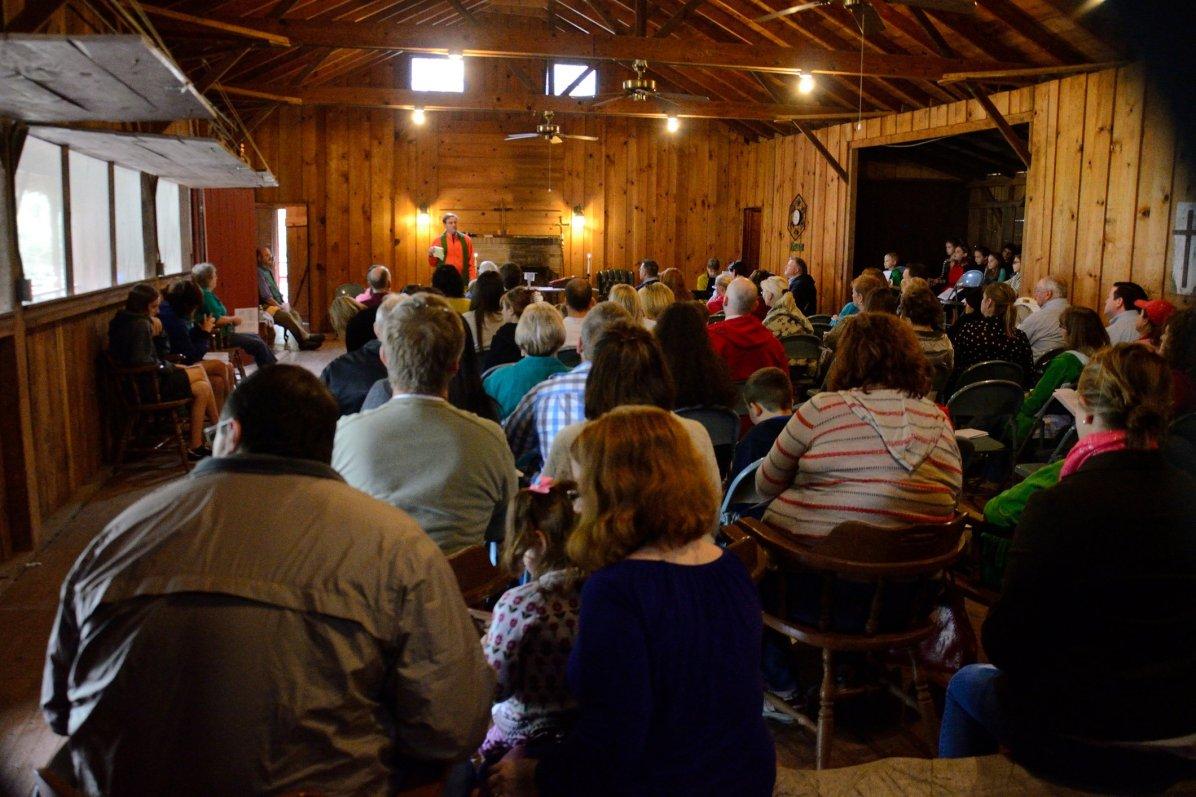 Sunday Service at Camp Shawio