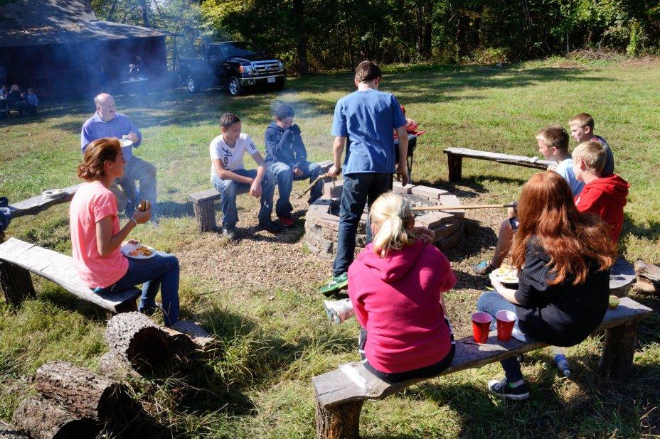 Picnic time at Camp Shawio