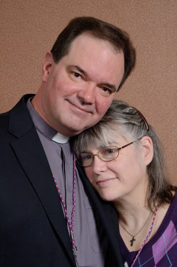 The Reverend David Kendrick and his wife Laura - I really liked this candid shot.