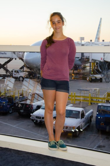 Lanie and our trans-Atlantic transport at Dallas Forth Worth