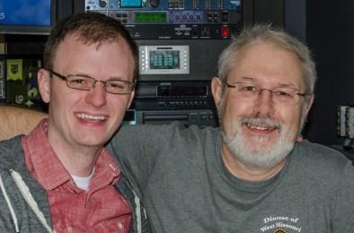 Walker and Gary taking a photo break - Photograph by Gary Zumwalt