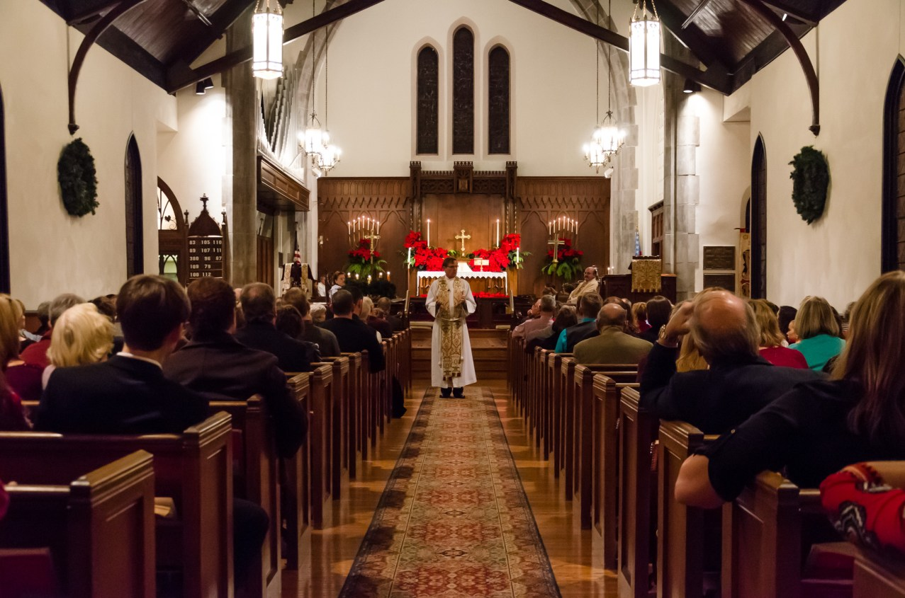 Fr. Ken delivering his sermon. Copyright © 2014 Gary Allman, all rights reserved.