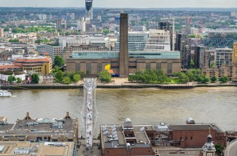 The Tate Modern seen from the top of St. Paul's Cathedral