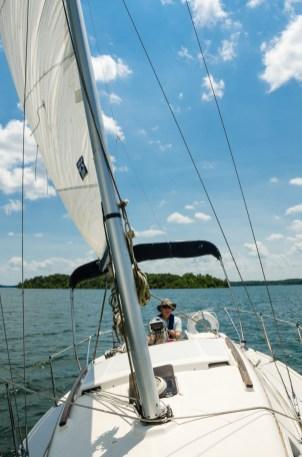 Sailing with John on Stockton Lake