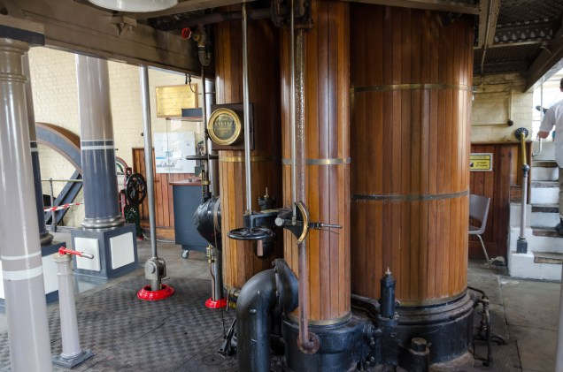 High and low pressure cylinders - beam engine at Eastney, Portsmouth