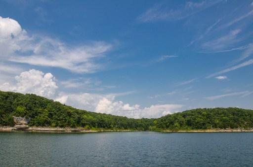 Sailing on Stockton Lake, Missouri