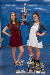 Lanie & Madison with their trophies