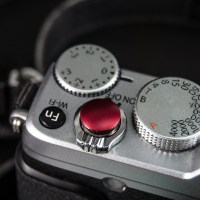 CamDesign 10MM Diameter Red Metal Convex Soft Shutter Release Button