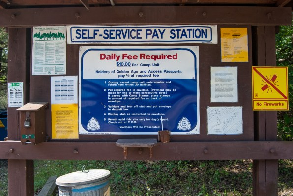 Photograph of the Self Service Station at Big Bay campground, Shell Knob, Missouri