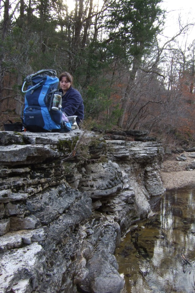 We stopped for lunch at 'The Falls' on Long Creek. Copyright © 2010 Gary Allman, all rights reserved.