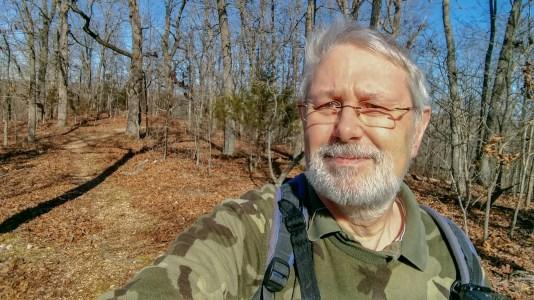 Gary on the ridge - Busiek Silver Trail