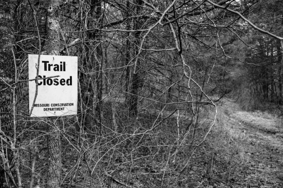 Trail Closed. Copyright © 2018 Gary Allman, all rights reserved.