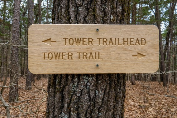 New signs and Trail Blazes at Hercules Glades.