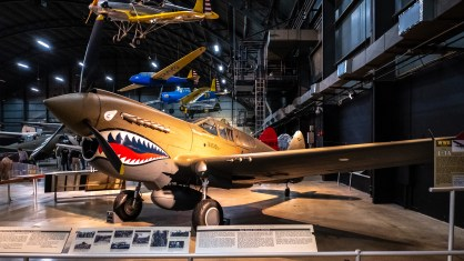 Curtiss P-40E Warhawk (Kittyhawk) at the National Museum of the US Air Force.