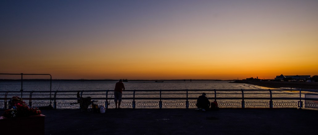 Fishermen in the dusk. Copyright © 2019 Gary Allman, all rights reserved.