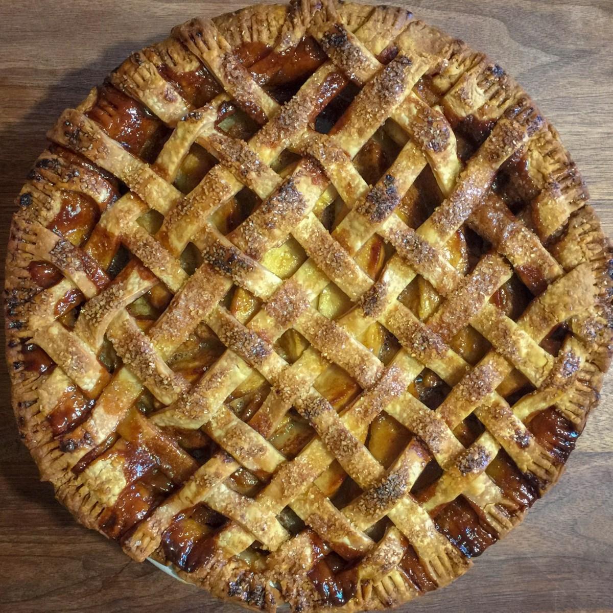 Salted Caramel Calvados Apple Pie