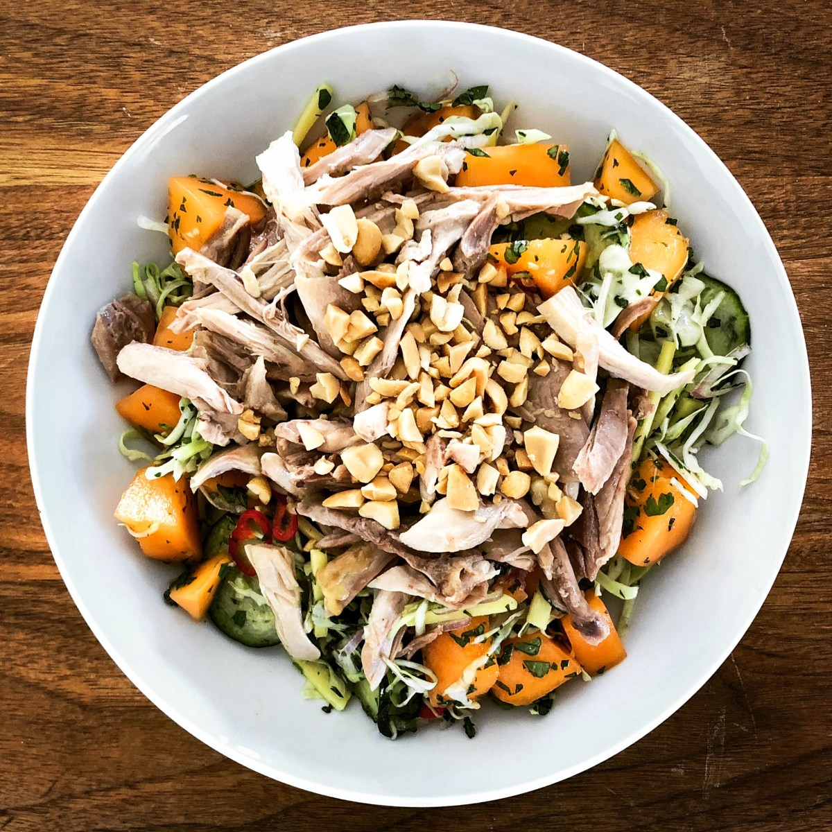 Citrusy Chicken and Melon Salad