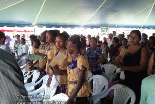Part of the crowd at the Centennial celebrations Mass