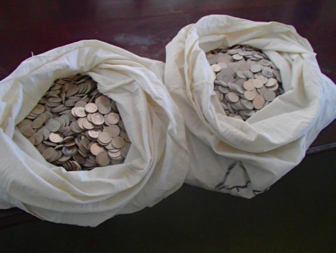 Court ordered fine (Paid in coins)