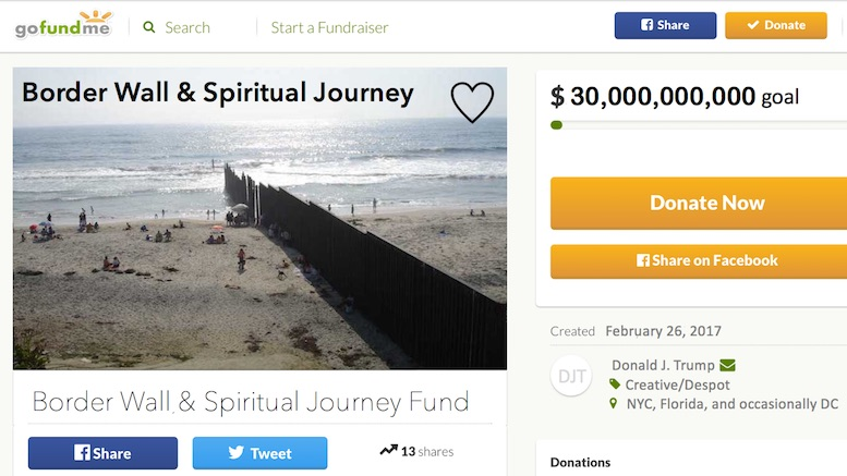 President Trump Launches GoFundMe Campaign To Pay For ...