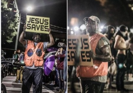 """Street Evangelist  Proclaiming, """"Jesus Loves You,"""" Attacked by Angry Protesters in Charlotte During RNC"""