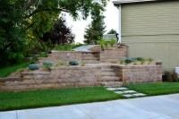 Tiered Retaining Walls Complete Modern Landscape Design