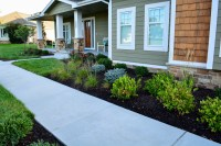 Modern Landscape Path to Drive - Breaking Ground Landscaping