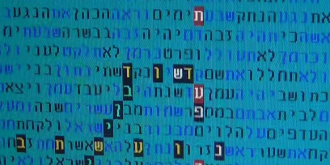 The Bible Code that hints at the arrival of the Messiah following the end of the current Shmittah year. (Photo: YouTube Screenshot)
