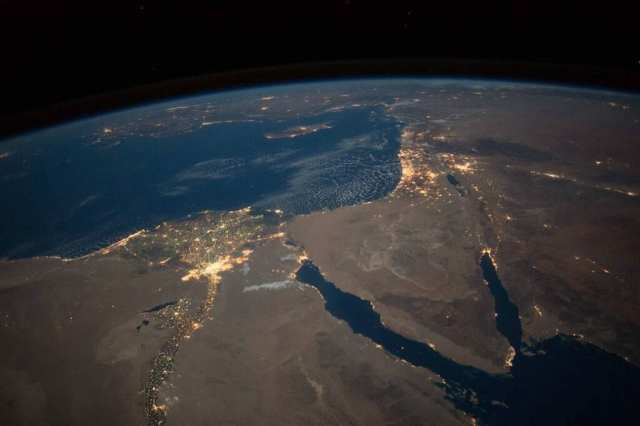 NASA's photo of the Middle East from space. (NASA)