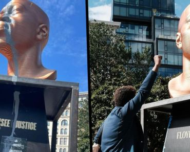 George Floyd Statue Vandalized 2 Days After Being Unveiled