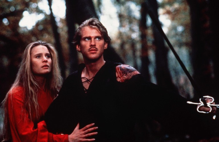 The Princess Bride: Westley and Buttercup escape through the Fireswamp
