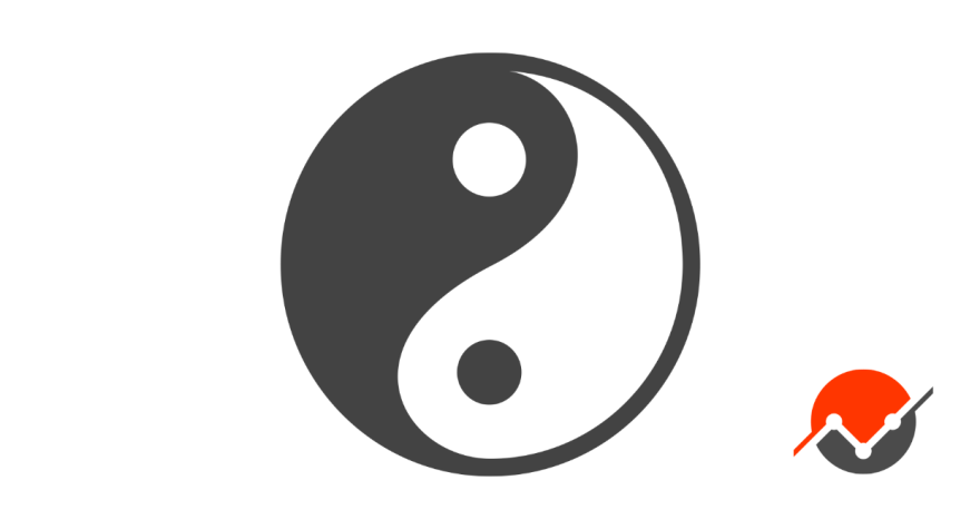 A picture of a yin-yang, the embodiment of trade-offs