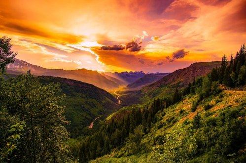 Sonnenuntergang Montana