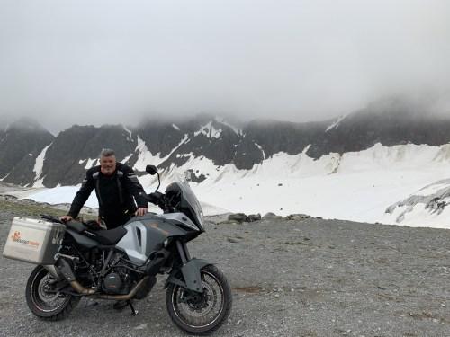 oben am Gletscher KTM
