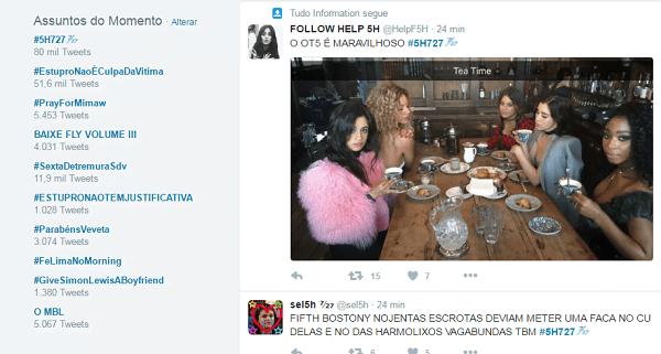 Fifth Harmony nos trending (Reprodução/Twitter)