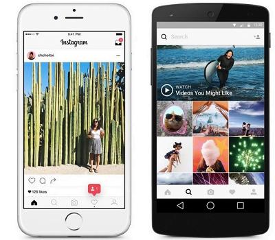 nova interface do instagram