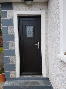 Black Glazed T And Pvc Door Brealey Windows & Doors