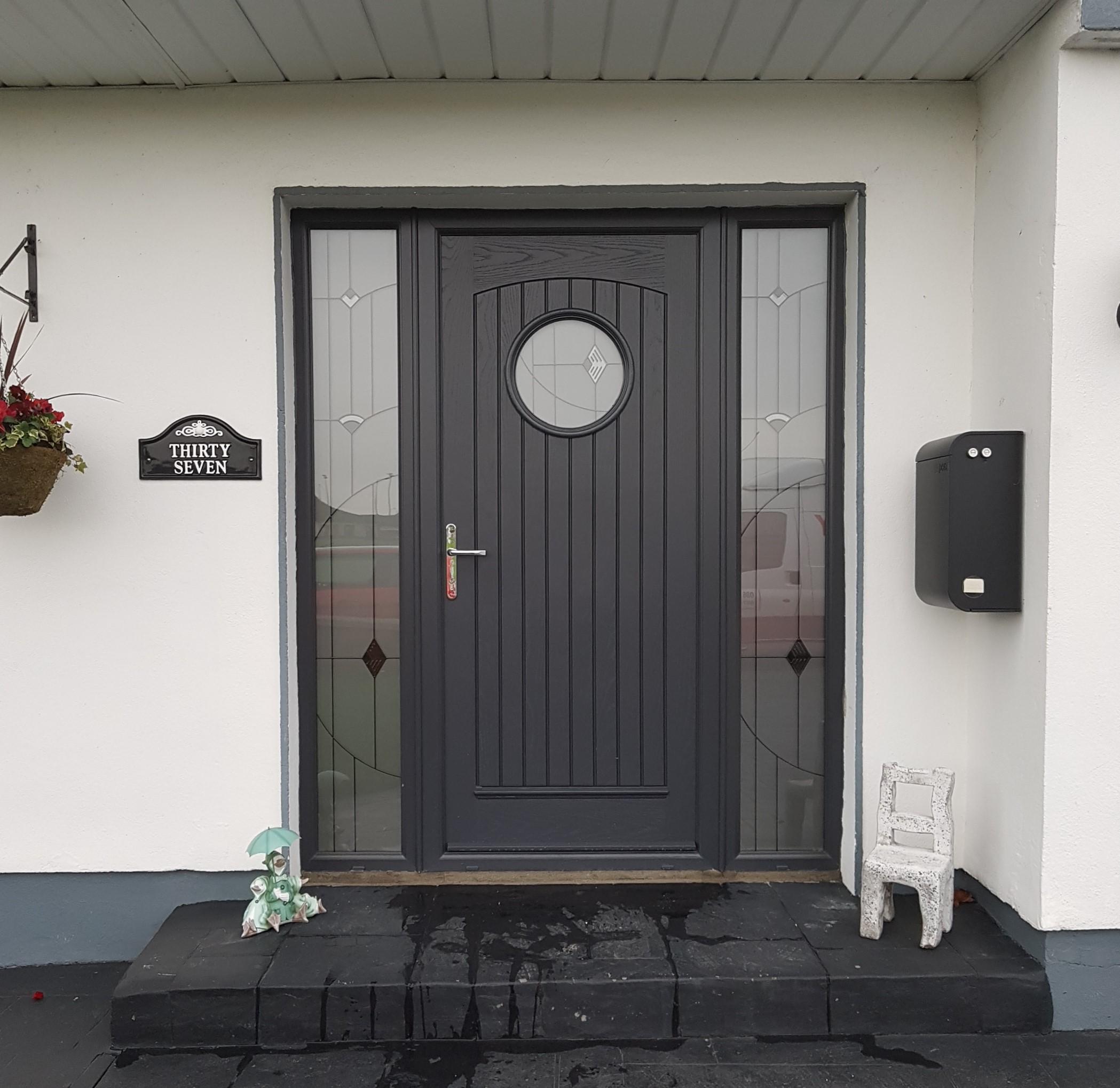viking door in anthracite grey