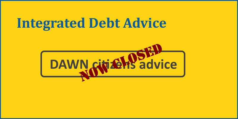 Integrated Debt Advice now closed header