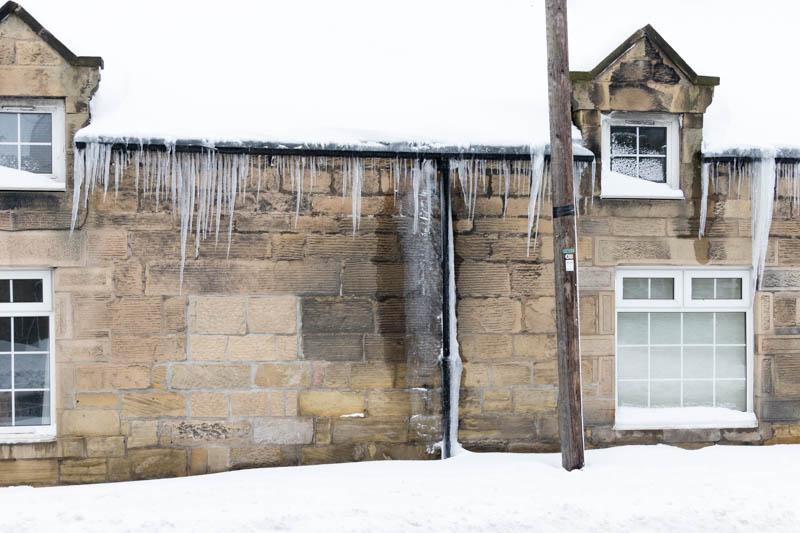 Powburn icicles