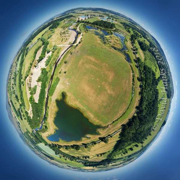 Hedgeley Lakes Tiny Planet 100m 2000px c. David Hanks 2018