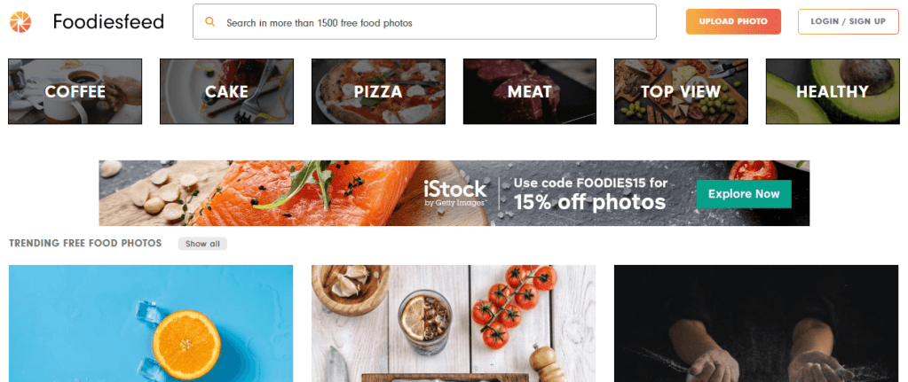 It's hard not to get hungry browsing Foodie's feed library of user-submitted stock photos.