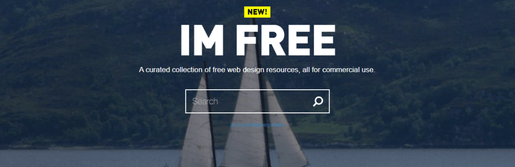 IM Free comes with graphics, icons, and other assets that are useful in website design and launches