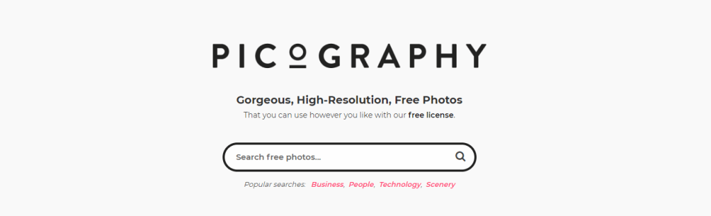 Picography is one of the top sources for gorgeous, high-resolution, free photos