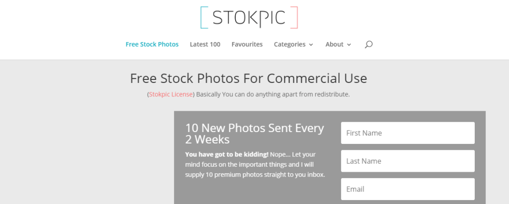 Stokpic sends ten new photos, free to use, to its email subscribers