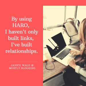 Quote - Janice Wald @ Mostly Blogging