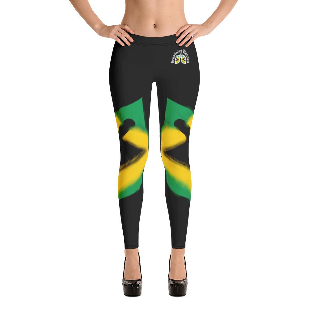 Breathing Jamaica Black Leggings