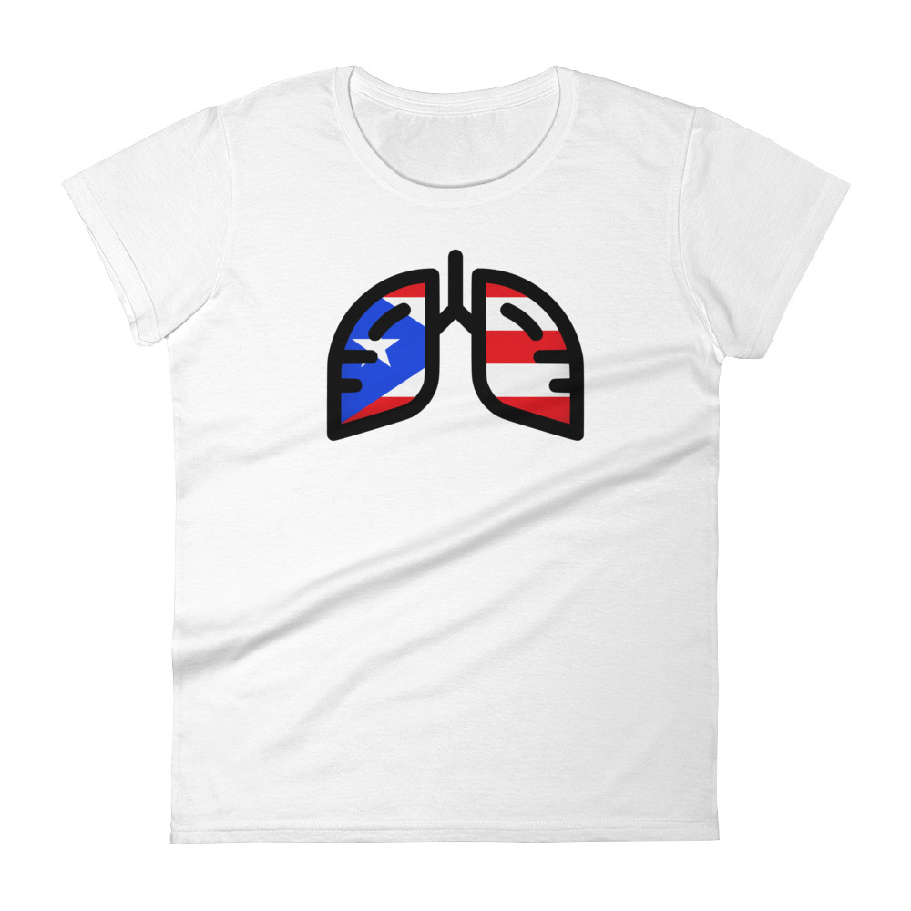 Ladies Breathing Puerto Rico T-shirt